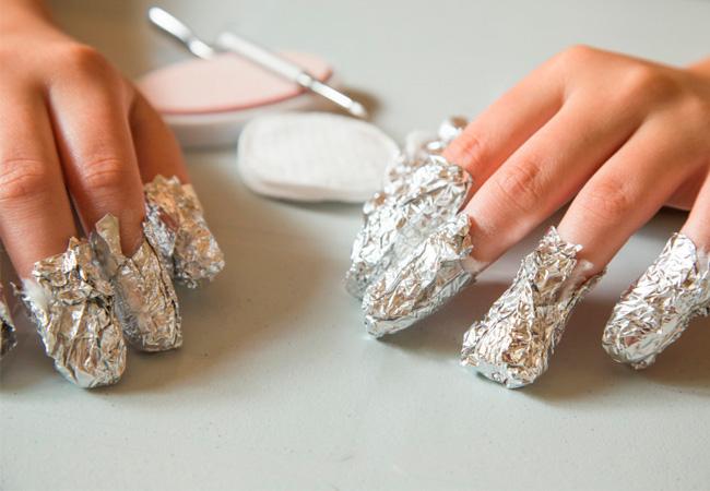 как быстро снять гель лак с ногтей