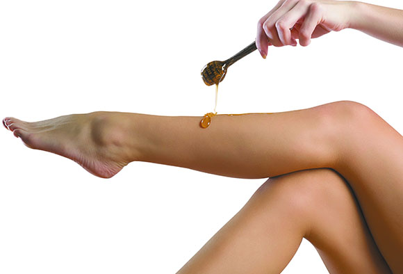 Мягкая кожа стоп с медом