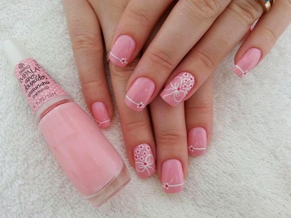 Фото квадратных ногтей нежно розового цвета с гель-лаком фото