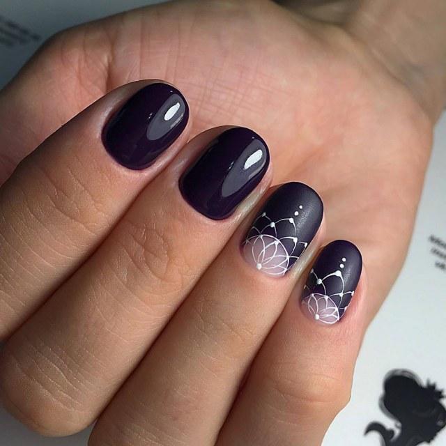 Ногти миндальной формы фото на короткую длину