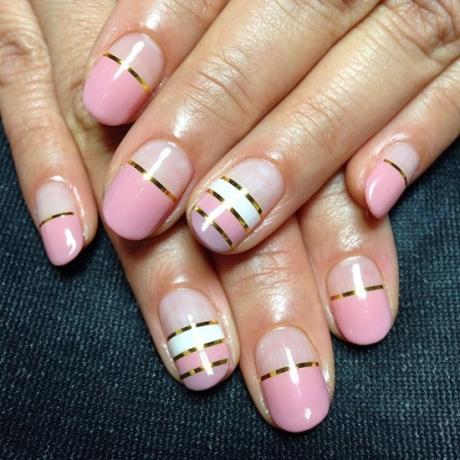 Овальные ногти с покрытием гель-лак маникюр