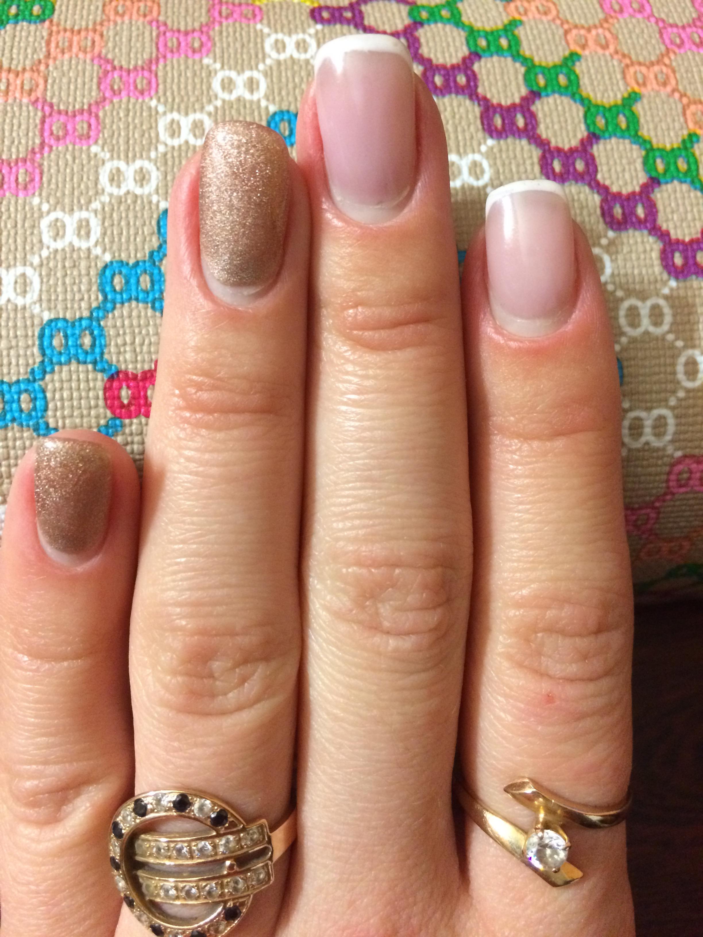 Коррекция нарощенных ногтей самой себе гелем