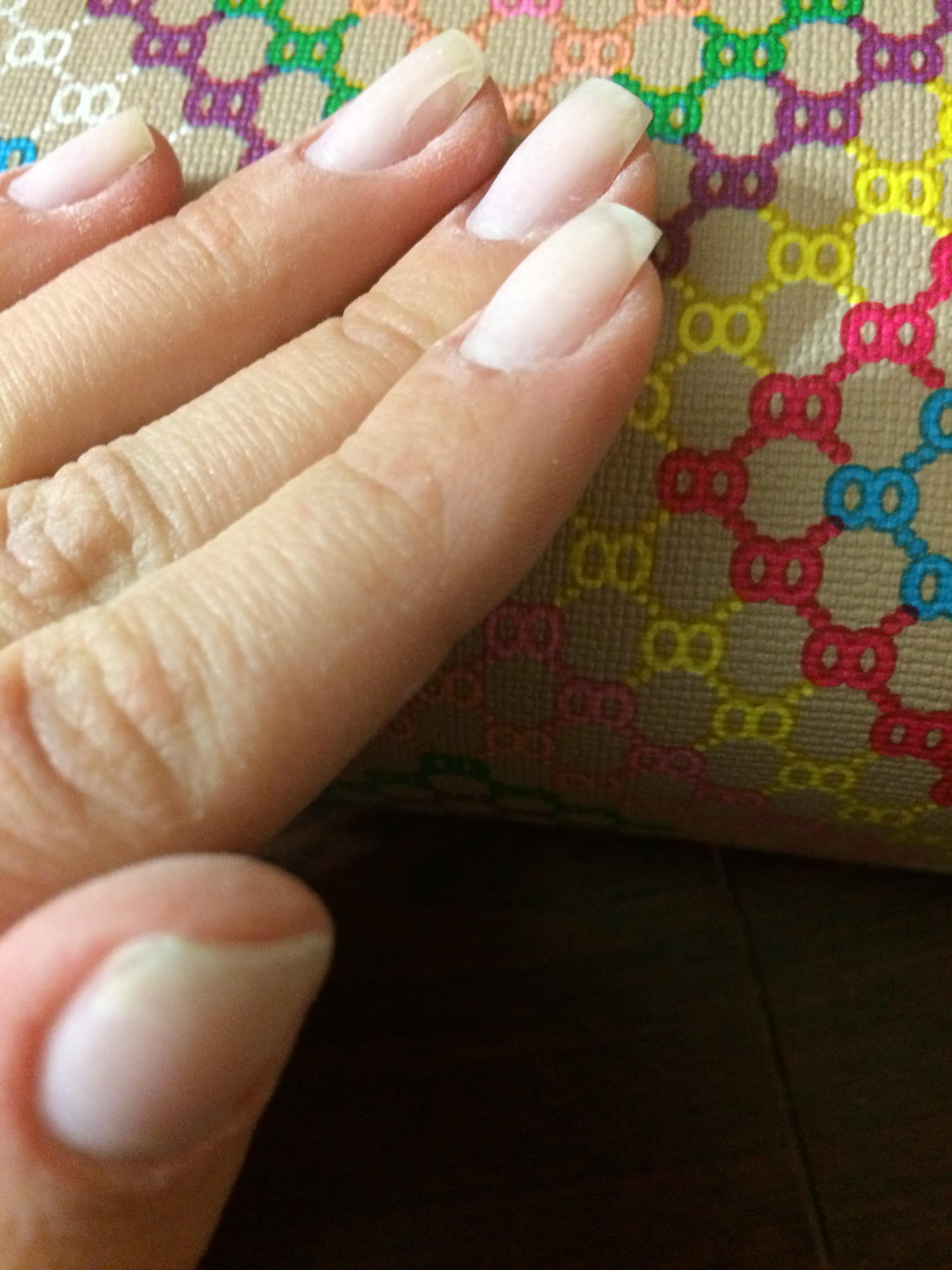 Опил нарощенных ногтей гелевых фото