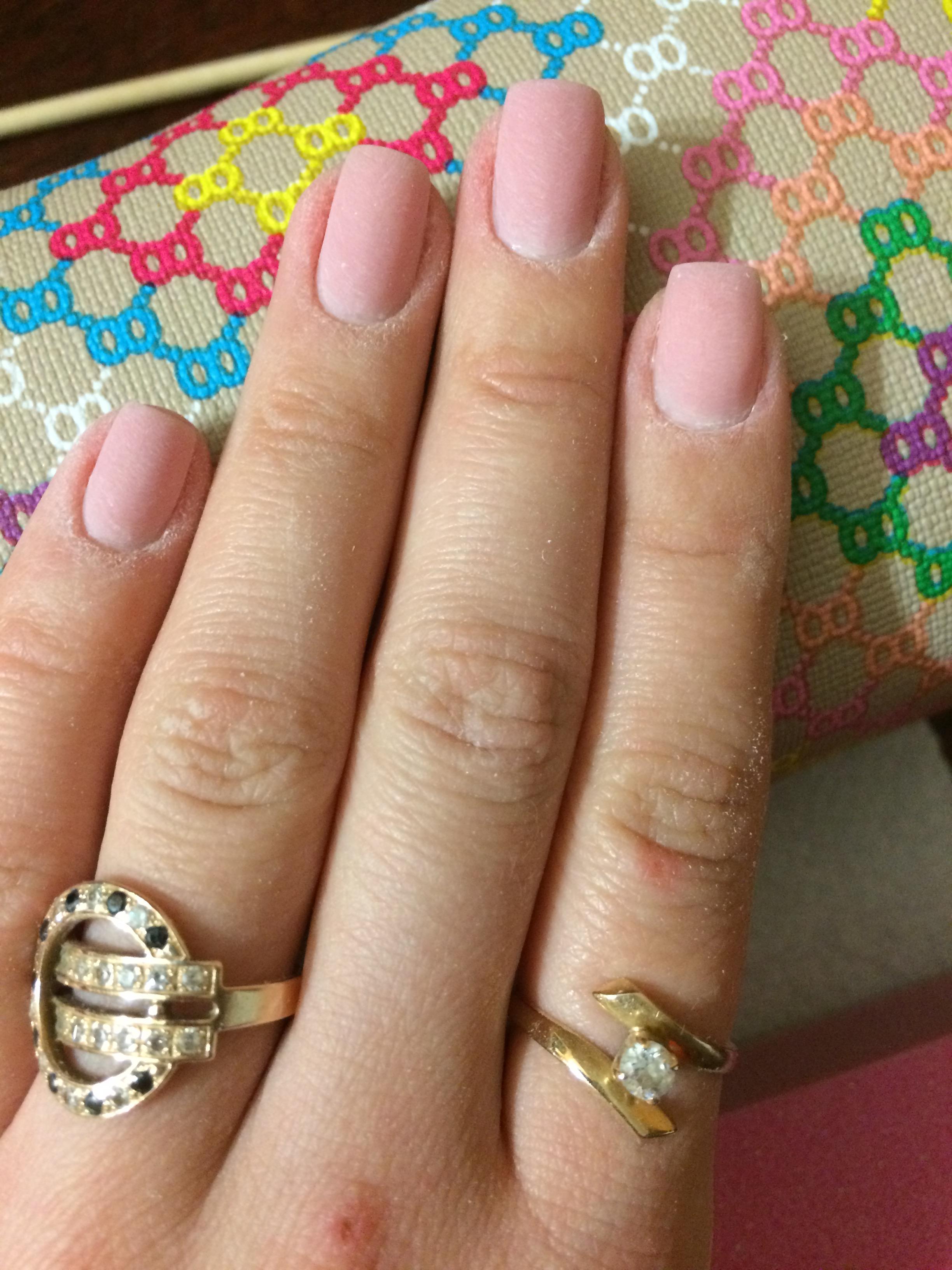 Ногти после коррекции гелем камуфляж под френч фото