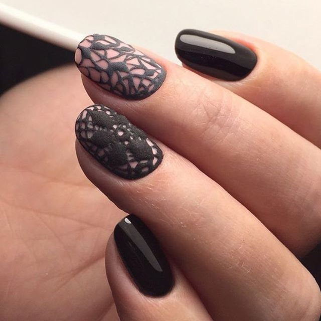 Дизайн ногтей бархатом фото