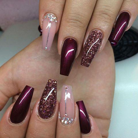 Красивые нарощенные ногти фото балерина