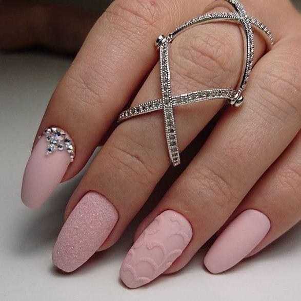 Нарощенные ногти с матовым покрытием фото