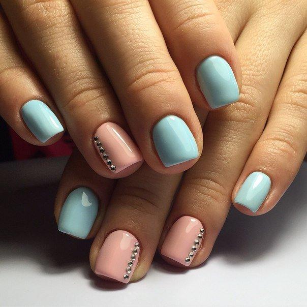 Короткие квадратные ногти гель лак нежных оттенков фото