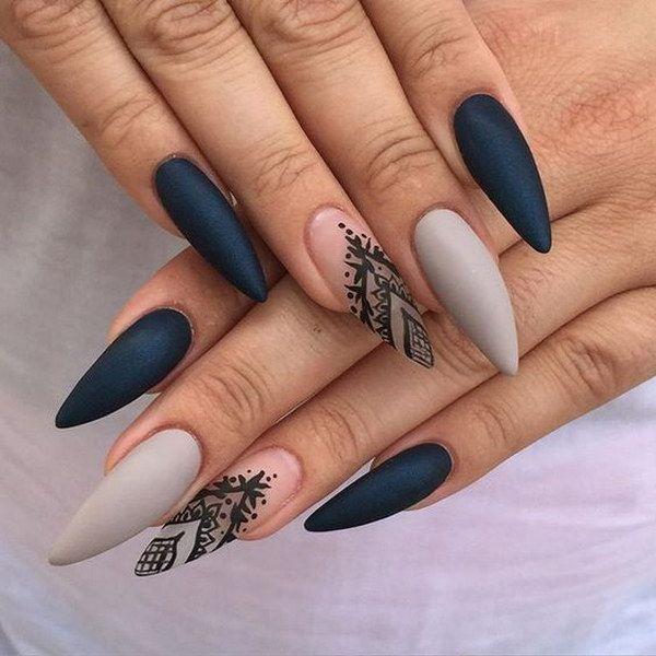 Нарощенные ногти фото матовые