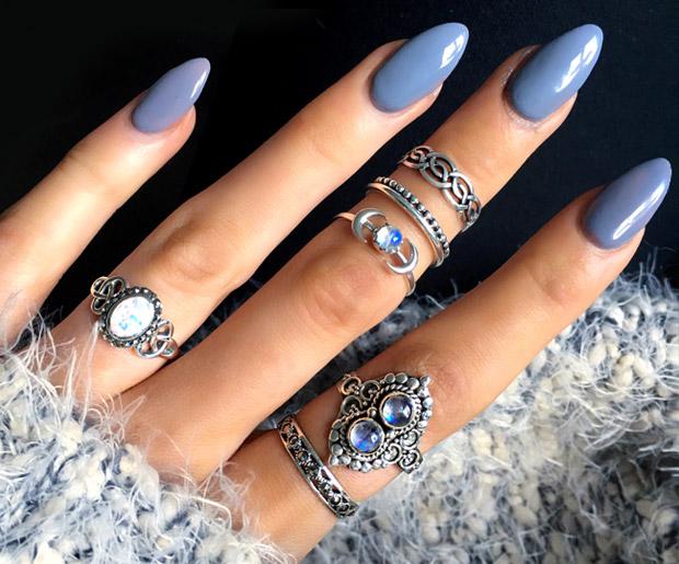 Нарощенные ногти овальной формы фото