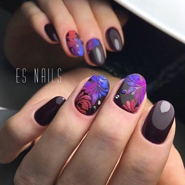 Бархатные ногти фото